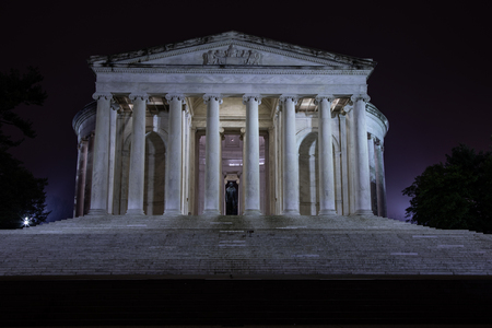 Jefferson Memorial at night - 8 March 2019