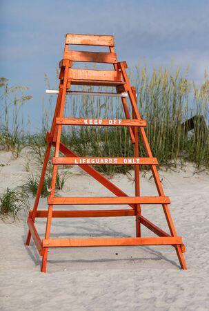 Lifeguard Stand sitting on a Florida Beach