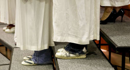 footware: The footware of a high school choral group.Sultan,WA 6208 Editorial