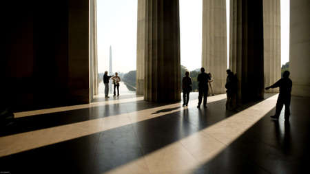 The Lincoln Memorial, Washington DC,9/08 Redactioneel