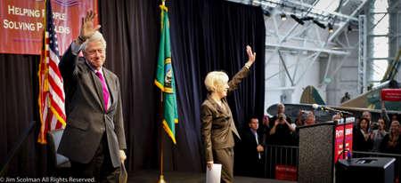 Senator Patty Murray, President Bill Clinton Get Out the Vote Rally,Everett, WA