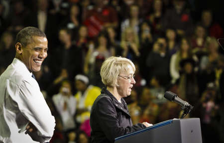 President Obama and Senator Patty Murray Get Out the Vote Rally, University of Washington, Seattle, Washington,10/21/2010