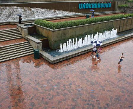 Fountain Plaza at the Atlanta, GA Underground.