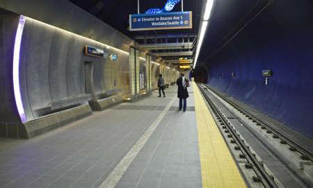 A Link Light Rail Commuter Station.