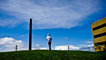 Totem Pole, a man and a park.