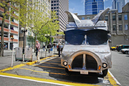 Maximus Minimus Food Truck, Seattle, WA Editorial