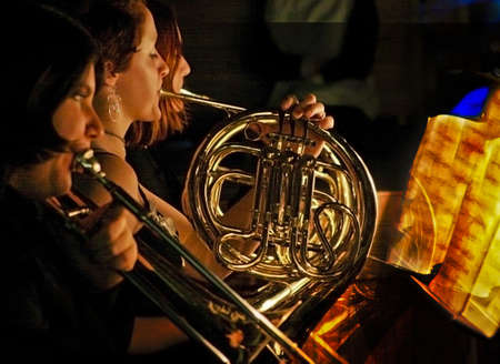 french horn: A French Horn Player. Editorial