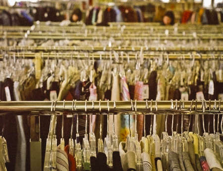 Clothing on Hangers.