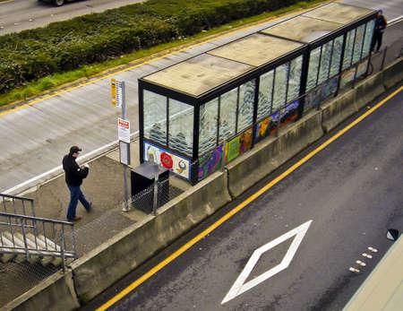 Metro Transit Stop. Redactioneel