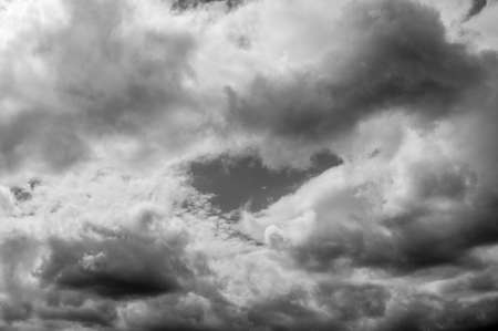 Clouds,black and white Stock Photo - 15887798