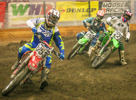 motorcross: Arenacross, Interior Motocross Racing Editorial
