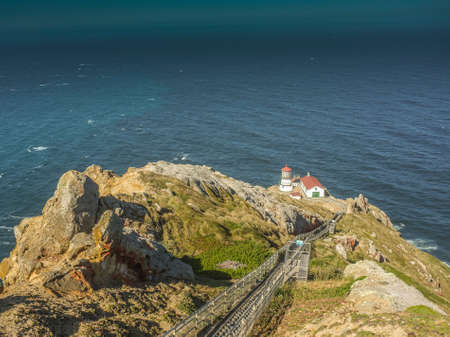 Point Reyes National Seashore,CA,Point Reyes Light House Фото со стока