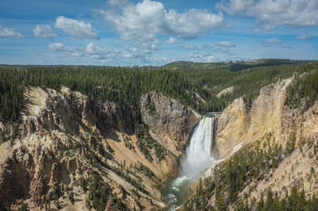 Yellowstone River Falls and Canyon 版權商用圖片