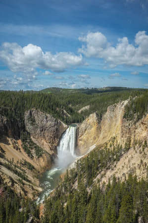yellowstone river falls and canyon Stockfoto