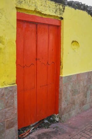 red door: Caribbean red door