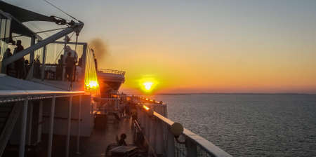 sun set: double sun set,cruise ship,west caribbean