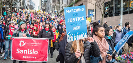 Martin Luther King, Jr. Day March, January 16, 2017, Seattle, Washington Редакционное