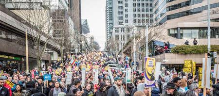 Martin Luther King, Jr. Day parade,January 16, 2017, Seattle, Washington Редакционное