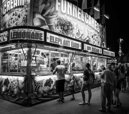 B&W Carnival food stand