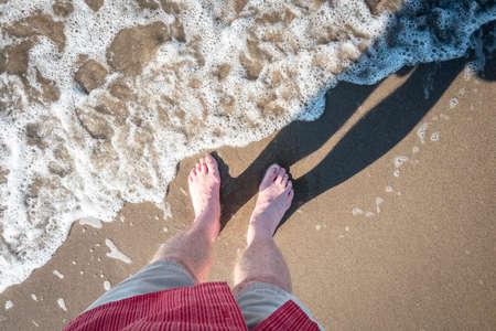 Mexico Beach Self-portrait Stockfoto