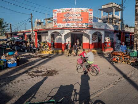 San Blas, Mexico Market. Redactioneel