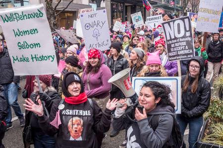 De Seattle Women's 2.0, 20 januari 2018. Stockfoto - 93999430