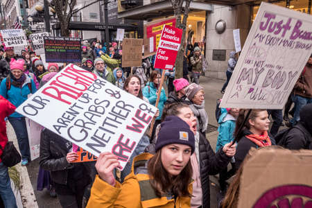The Seattle Women's March 2.0, January 20, 2018.