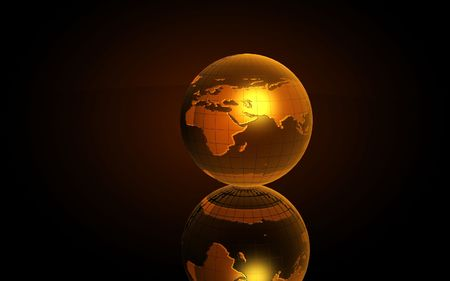 Earth 3D  for graphic designers in yellow   Stock Photo - 6588031