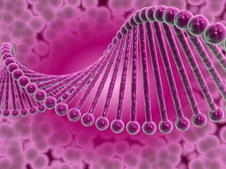 Digital illustration of dna structure in 3d on digital background Stock Illustration - 6756655
