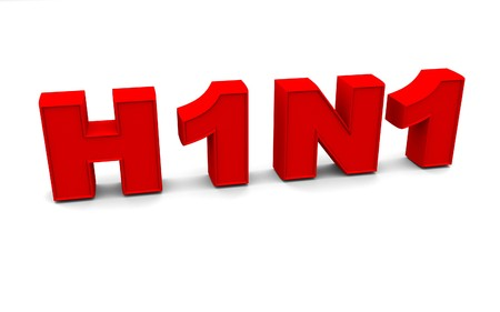 H1N1 is a dangerous virus in white background Stock Photo - 7930583