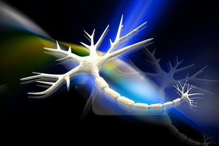 Digital illustration of neuron in 3d on digital background Stock Illustration - 7998848
