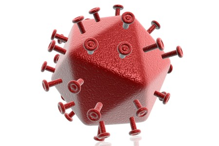 hiv virus: Digital illustration of HIV virus Stock Photo