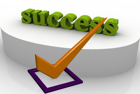Check Mark green with success photo