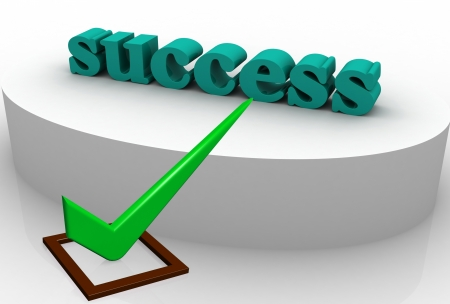Check Mark green with success Stock Photo - 8389884