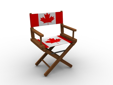 Wooden Chair with Cadanian Flag