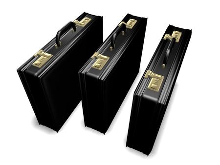 attache: Three attache cases
