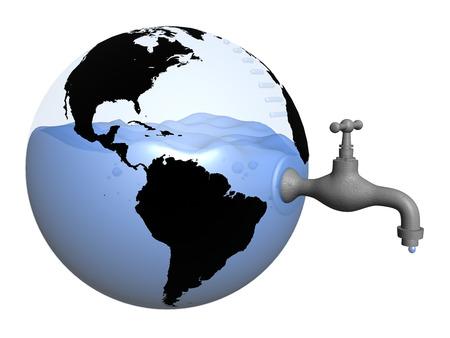 Réserve mondiale de l'eau Banque d'images - 33426278