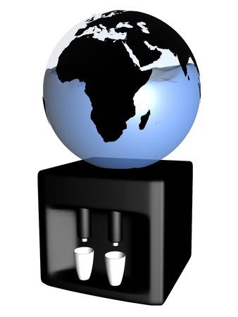 Globe as water machine