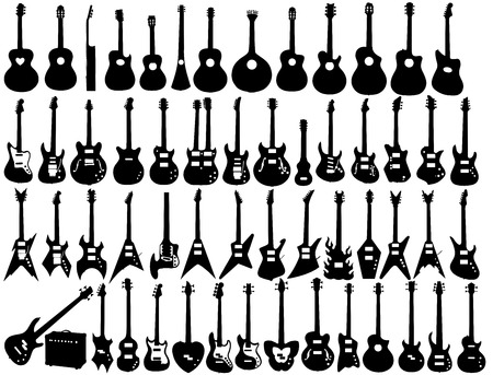 Set of guitar shapes