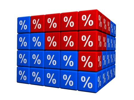100 percents in cubes