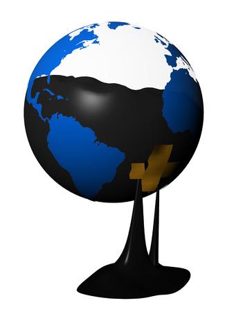 fluency: Global Oil Reserve Stock Photo