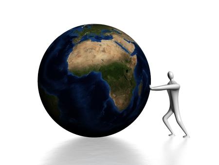 Pushing the globe
