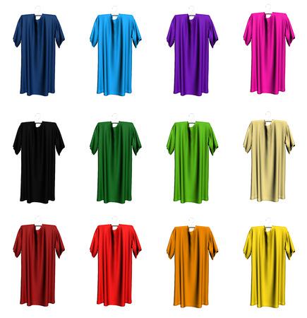 xxxl: Colorful set of t-shirts Stock Photo