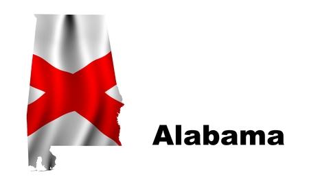 alabama flag: Alabama flag map
