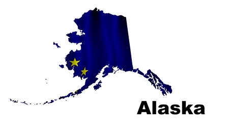 Alaska flag map photo