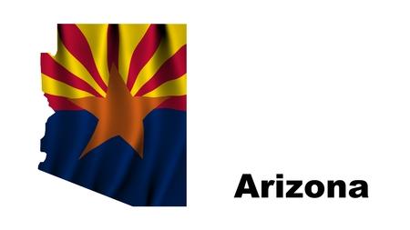 Arizona flag map photo