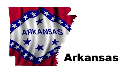 Arkansas flag map photo