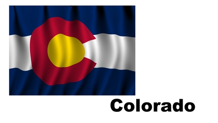 colorado flag: Colorado flag map