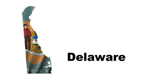 Delaware flag map photo