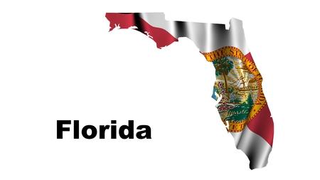 Florida flag map photo